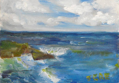 Painting - La Jolla Cove 037 by Jeremy McKay