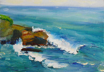 Painting - La Jolla Cove 038 by Jeremy McKay