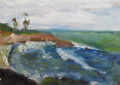 Painting - La Jolla Cove 039 by Jeremy McKay