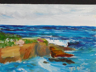 Painting - La Jolla Cove 045 by Jeremy McKay
