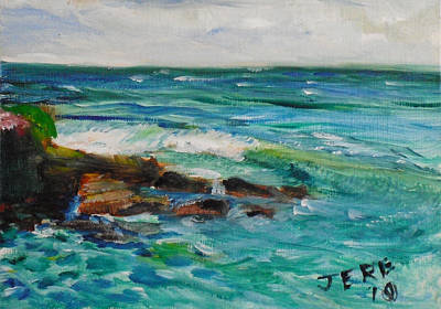 Painting - La Jolla Cove 047 by Jeremy McKay