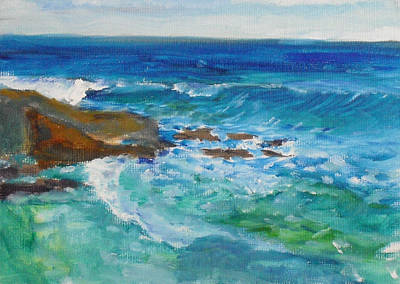 Painting - La Jolla Cove 048 by Jeremy McKay