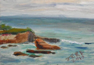 Painting - La Jolla Cove 063 by Jeremy McKay