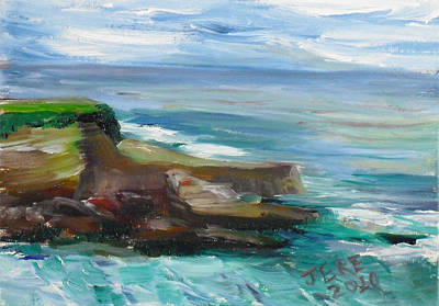 Painting - La Jolla Cove 064 by Jeremy McKay