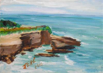 Painting - La Jolla Cove 075 by Jeremy McKay