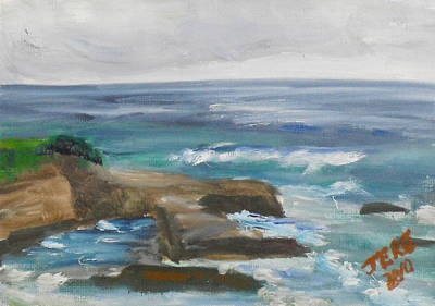 Painting - La Jolla Cove 082 by Jeremy McKay