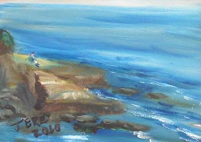 Painting - La Jolla Cove 089 by Jeremy McKay