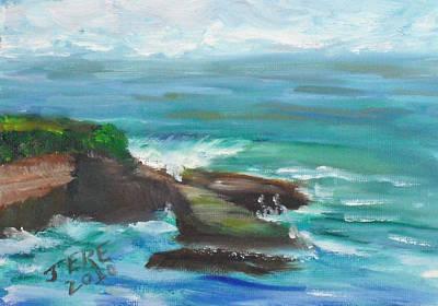Painting - La Jolla Cove 090 by Jeremy McKay