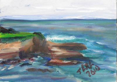 Painting - La Jolla Cove 091 by Jeremy McKay