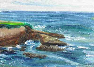 Painting - La Jolla Cove 097 by Jeremy McKay