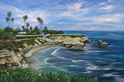 La Jolla Painting - La Jolla Cove by Lisa Reinhardt