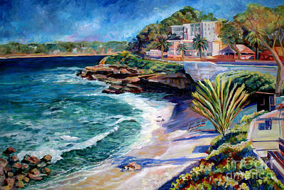 Painting - La Jolla Cove by Nancy Isbell