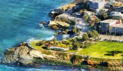 La Jolla Cove Painting - La Jolla Cove  by Russ Harris