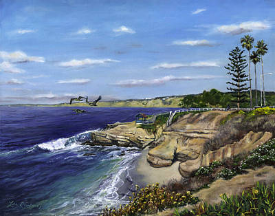 La Jolla Painting - La Jolla Cove West by Lisa Reinhardt