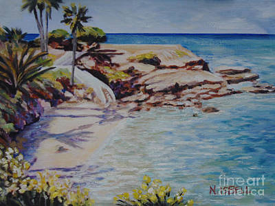 Painting - La Jolla Cove West by Nancy Isbell