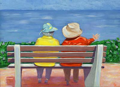 La Jolla Art Painting - Sisters by Karyn Robinson