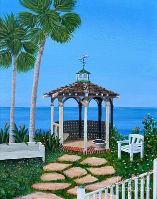 Painting - La Jolla Garden by Mary Scott