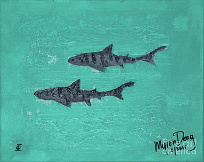 La Jolla Leopard Sharks Art Print