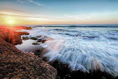 Photograph - La Jolla New Year King Tide 3 by Scott Campbell