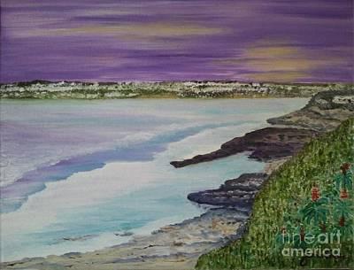 La Jolla Art Painting - La Jolla Purple Sunset by Jasna Gopic