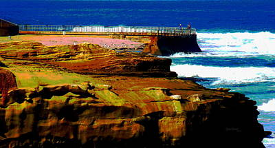 La Jolla Rocks 2 Wall Print by Russ Harris