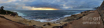 Photograph - La Jolla Shores Beach Panorama by Eddie Yerkish