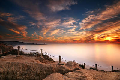 Long Exposure Photograph - La Jolla Sunset by Larry Marshall