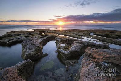 Photograph - La Jolla Tide Pool Sunset  by Michael Ver Sprill
