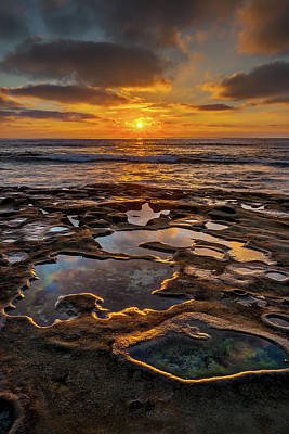 Hospital Photograph - La Jolla Tidepools by Peter Tellone
