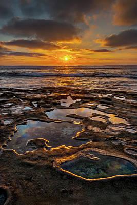 California Ocean Photograph - La Jolla Tidepools by Peter Tellone