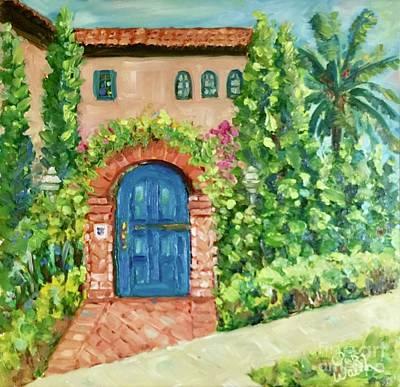 Painting - La Jolla Villa by Patsy Walton
