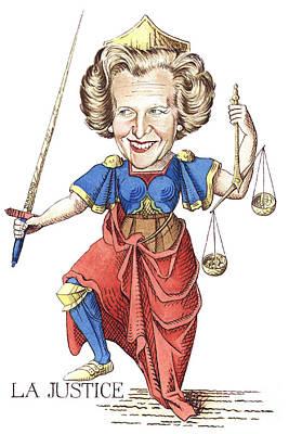 Caricature Drawing - La Justice by Debbie  Diamond