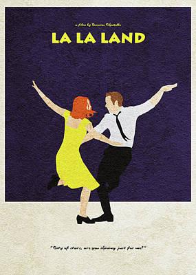 Digital Art - La La Land Alternative And Minimalist Poster by Inspirowl Design