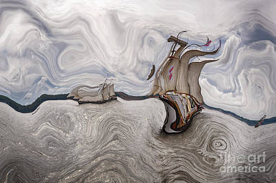 Digital Art - Le Vent Dans Les Voiles - 51o - Sea Boat Series by Variance Collections