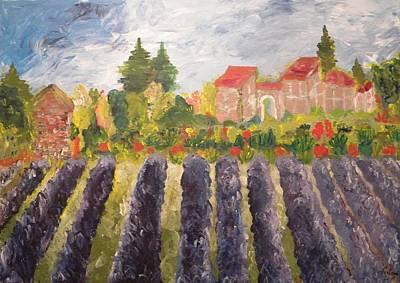 Painter Mixed Media - La Lavandiere by Carmen Kolcsar