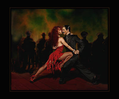 Villalba Photograph - La Leccion De Tango by Raul Villalba