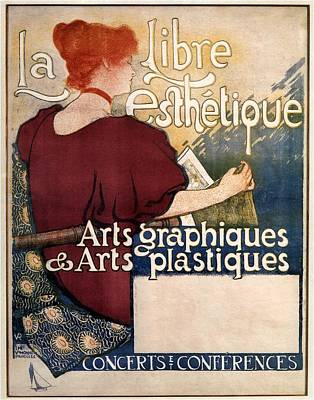 Mixed Media - La Libre Esthetique - Arts Graphiques And Arts Plastiques - Vintage Advertising Poster by Studio Grafiikka