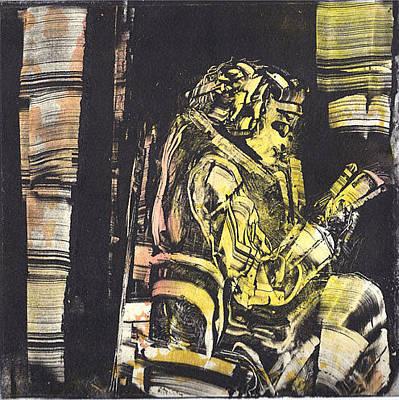 Drawing - La Liseuse by Rochelle Mayer