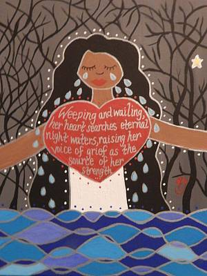 Painting - La Llorona by Angela Yarber