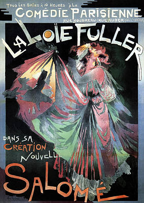 Mixed Media - La Loie Fuller Salome - Evolutionised Dance By Using Gas Lighting - Vintage Advertising Poster by Studio Grafiikka