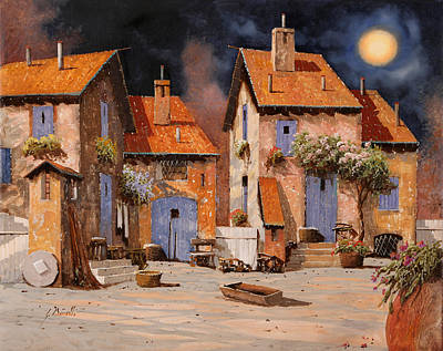 Royalty-Free and Rights-Managed Images - La Luna Gialla by Guido Borelli