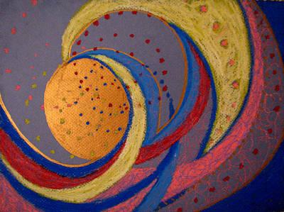 Painting - La Lune Dans Sa Sagesse by Art Nomad Sandra  Hansen