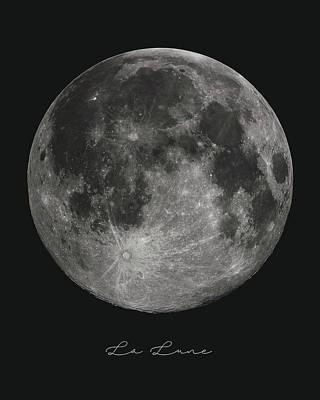 Mixed Media - La Lune, The Moon by Studio Grafiikka