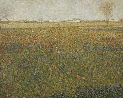 Painting - La Luzerne Saint Denis  by Georges-Pierre Seurat