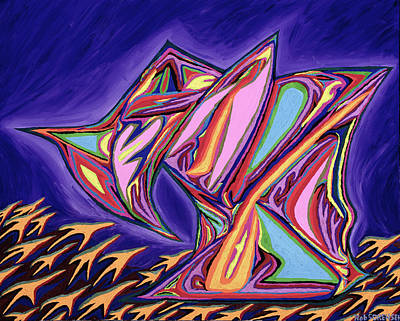 Painting - La Machine Nostradamus by Robert SORENSEN