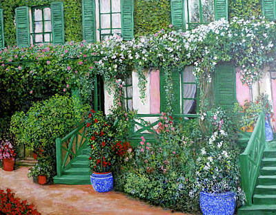 Painting - La Maison De Claude Monet by Tom Roderick