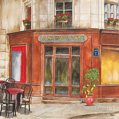 Cafe Wall Art - Painting - La Maison De Soupe by Debbie DeWitt