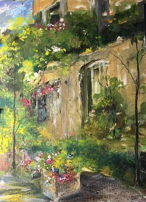 Painting - La Maison Est O Le Coeur Est Home Is Where The Heart I by Robin Miller-Bookhout
