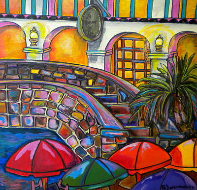 Del Rio Painting - La Mansion by Patti Schermerhorn