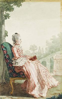 Drawing - La Marquise De Pons by Louis Carrogis Carmontelle